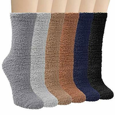 6 pairs womens fuzzy christmas socks soft