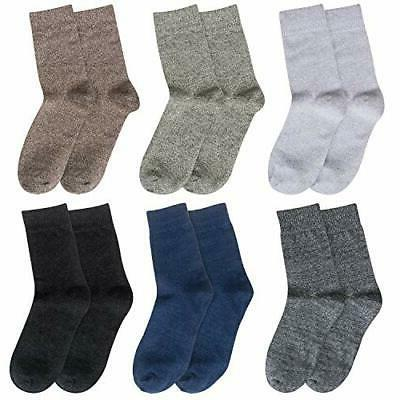 Loritta 6 Pairs Socks Comfy Dress Knit Cotton Mix 02
