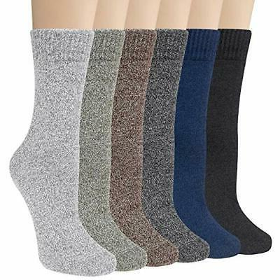 6 pairs womens socks comfy dress colorful