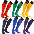 Adult Kids Sports Football Soccer Rugby Plain Long Socks Cot