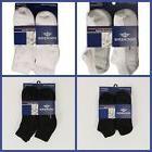 Dockers Athletic Socks 6 Pack Men Size 10-13 Black White 4 S