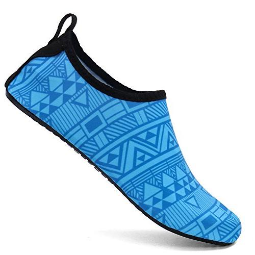 ALEADER Water Summer Outdoor for Yoga ExerciseGeometry/Blue
