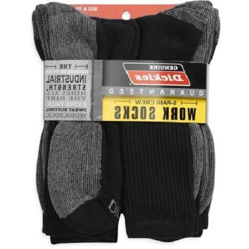 Dickies - Big and Tall Men's Dri-Tech Comfort Crew Work Sock