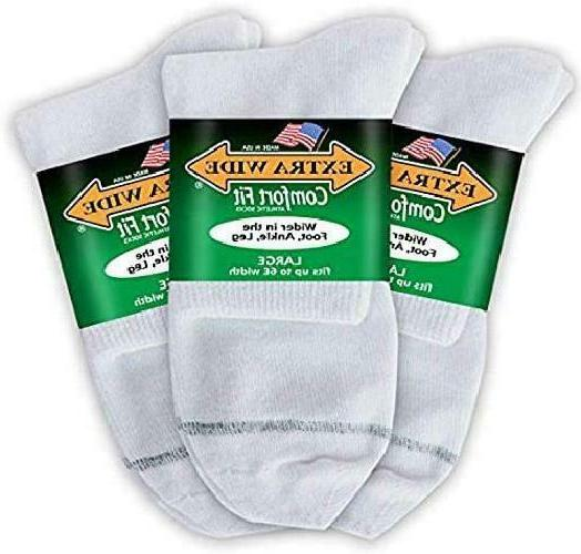 Big  Tall Men'S Extra Wide Socks Athletic Quarter Size 11-16