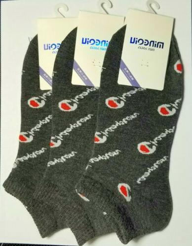 BLACK/GRAY CHAMPION SOCKS! Casual/Athletic Wear Most Pairs~