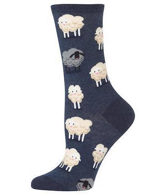 Hot Sox Black Sheep Crew Socks Hosiery - Women's
