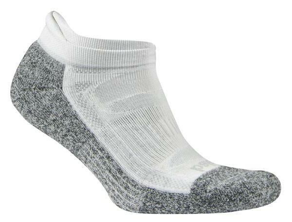 blister resist white no show running socks