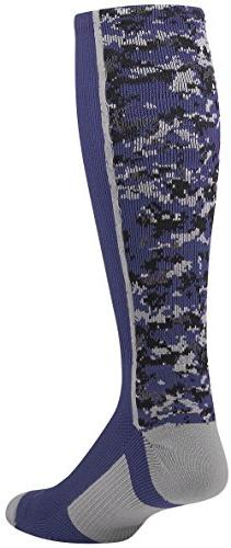 TCK Sports Digital Camo Over The Calf Socks, Navy, X-Large