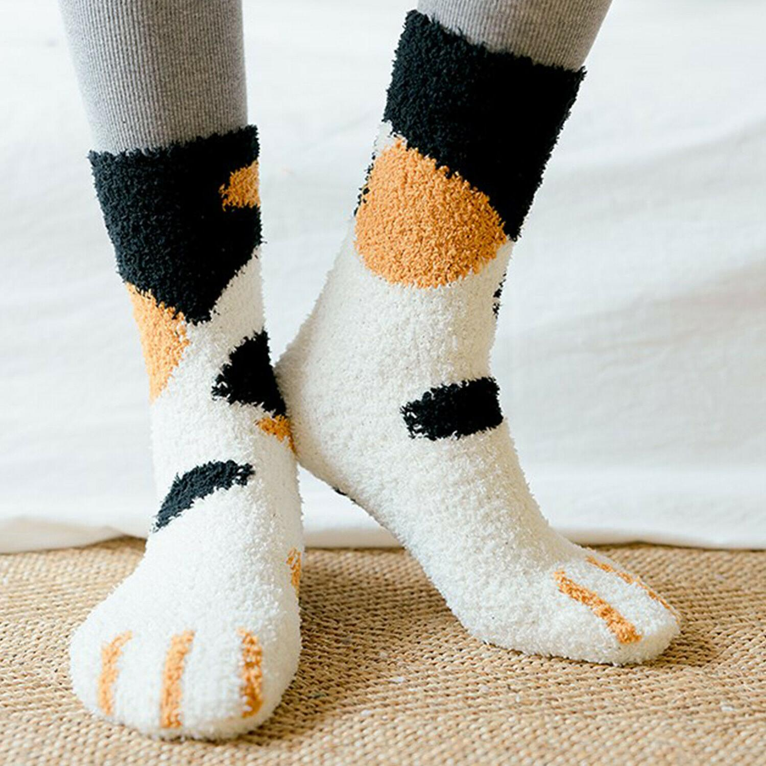 Cat Claw Cute Warm Sleep Ankle Coral Home