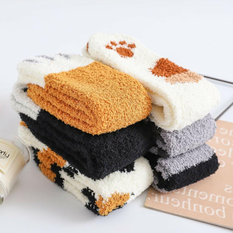 Cat Claw Socks Cute Sleep Coral Home
