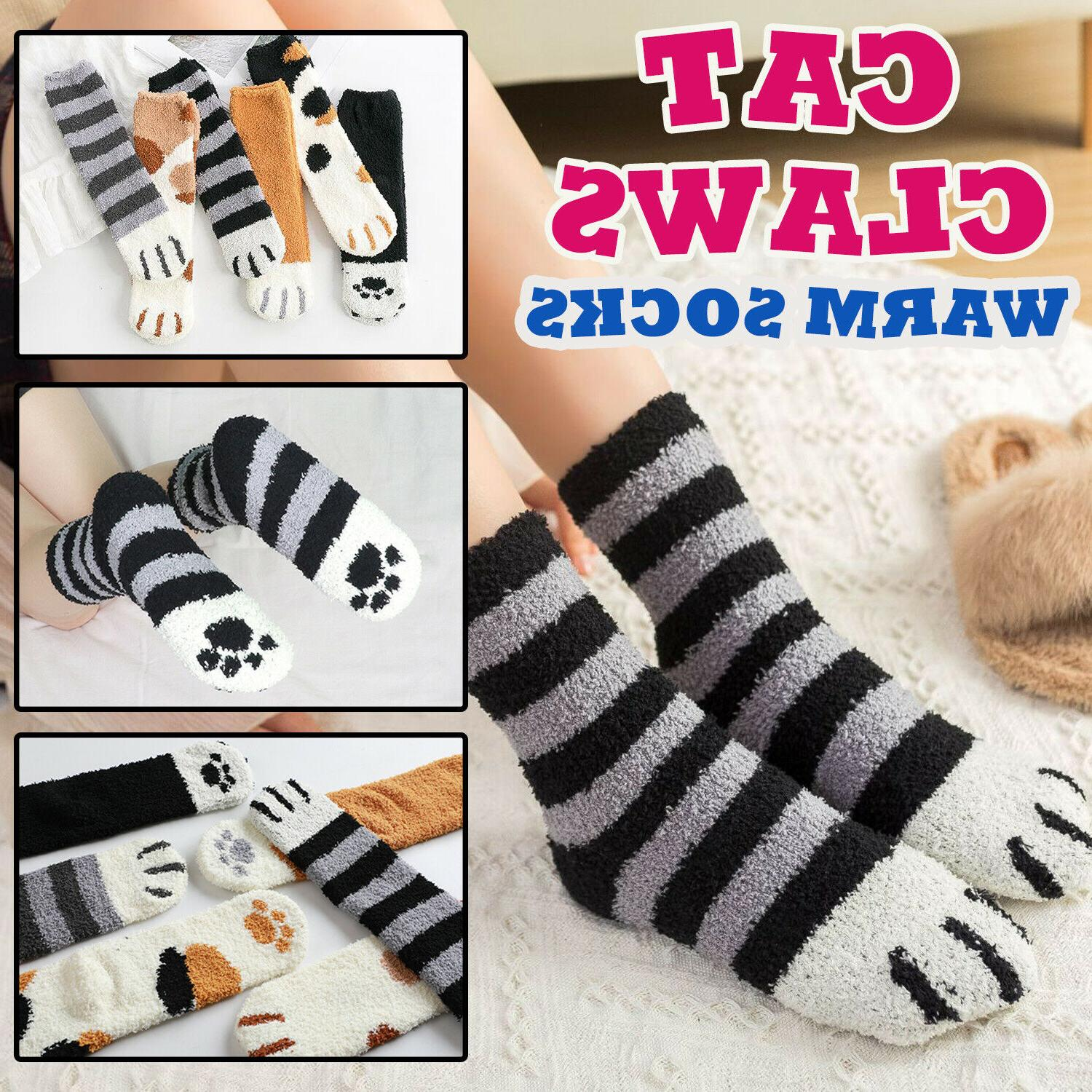 cat claw paw socks cute lovely soft