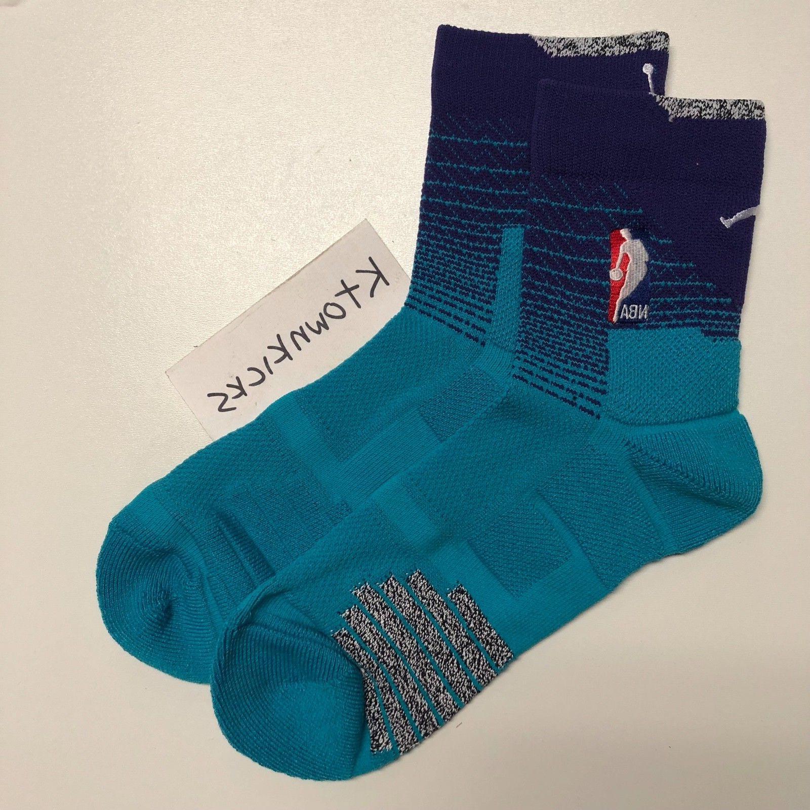 Nike Charlotte Hornets Elite High Quarter Mid Jordan Socks M