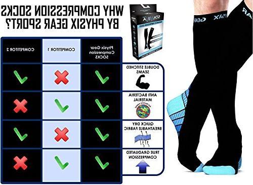 Physix Gear for & 20-30 mmhg, Athletic Fit Nurses Splints Travel & - & Recovery BLU