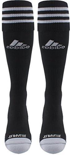 adidas Copa Zone Cushion III Soccer Socks , Black/White, Lar
