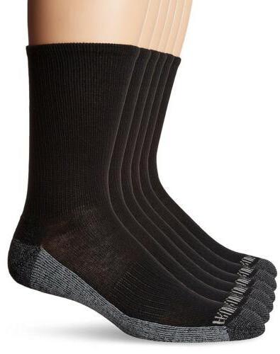 Fruit Loom Men's 6 Black, Shoe 6-12/Sock Size 10-13