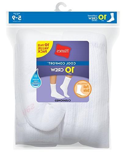 Hanes Women's Sock, White,