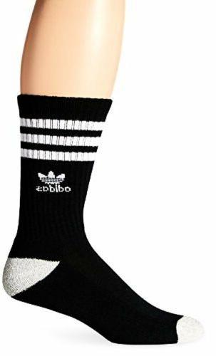 adidas Men's Originals Crew Socks, One Size, Black/White/Hea