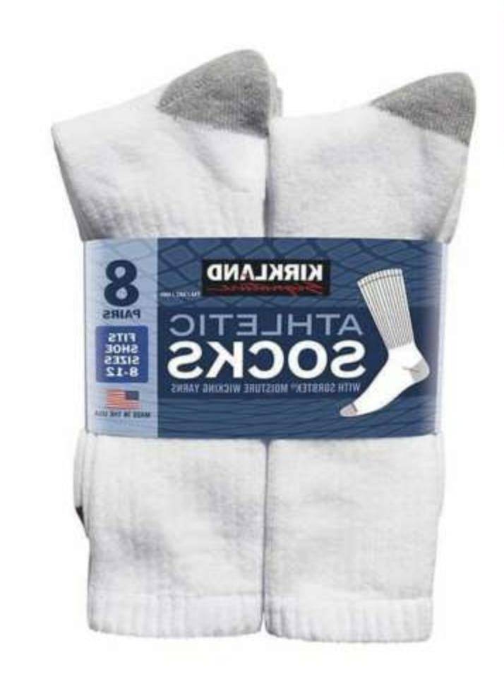 Kirkland Signature Crew Socks XL Men's Athletic 8-Pack Set S