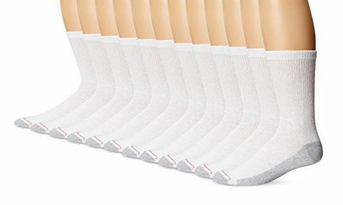 Hanes Men's Cushion Crew Socks 184V12