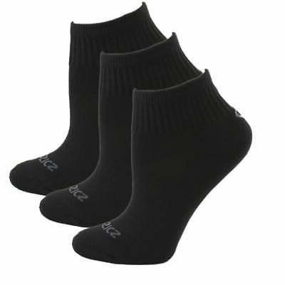 cushion quarter 3 pack athletic socks black