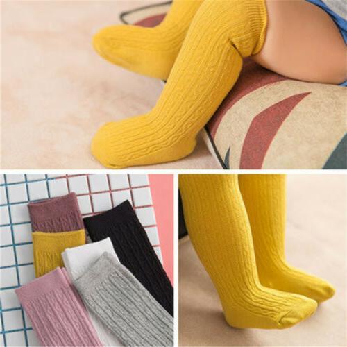 Cute Toddler Girls Knee High Long Socks Winter Warm Cotton Casual Stockings