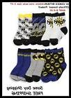 DC COMICS Batman Boy's 6 pk Athletic Crew Socks