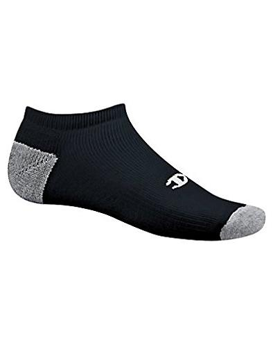 Champion Dry Men's No-Show 6-Pack, Black,Sock size10-13,shoe