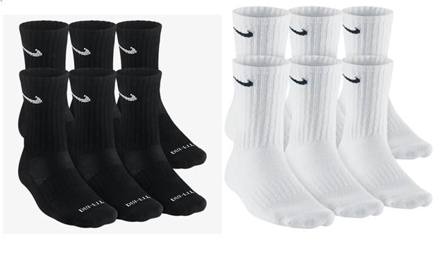 Nike Dri-Fit and Performance Cotton Crew Socks 1, 3, OR 6 PA