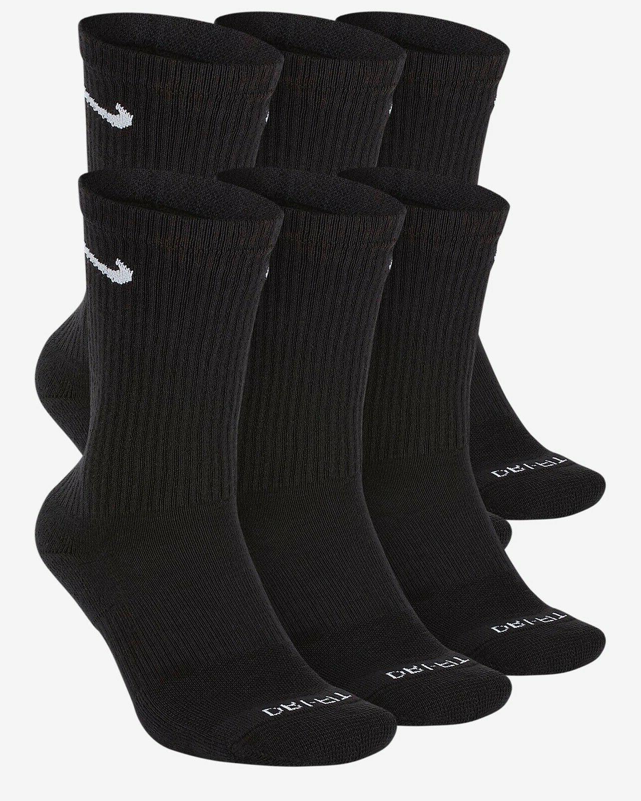 Nike Dri-Fit Cushioned Crew Socks Blue Camo White Black Larg