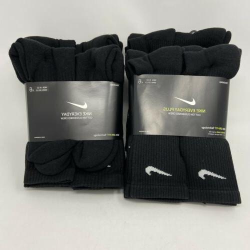 Nike Everyday Crew Socks 6 pairs MENS 8-12