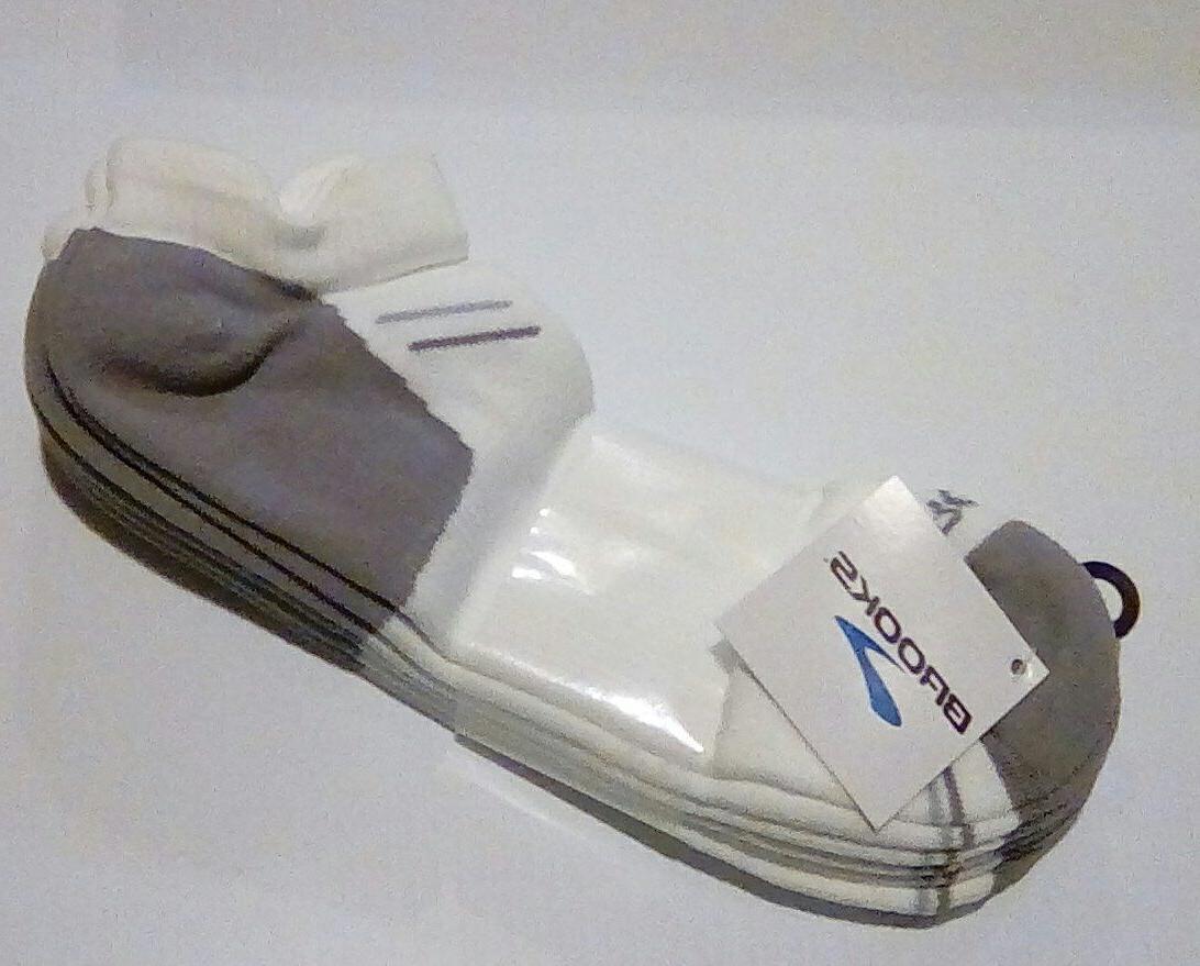 Brooks Dri-Layer Athletic No Show Sock, Moisture Wicking, L,