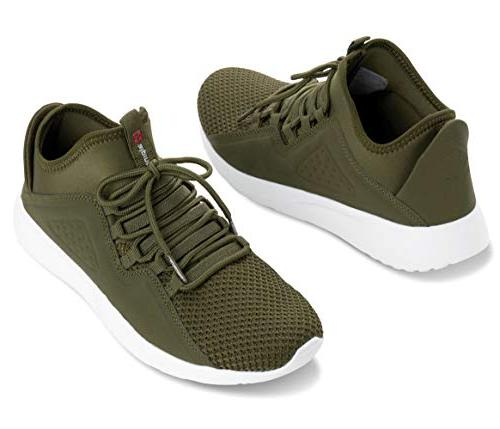 alpine Fashion Lightweight Lace Up Tennis Olive M US