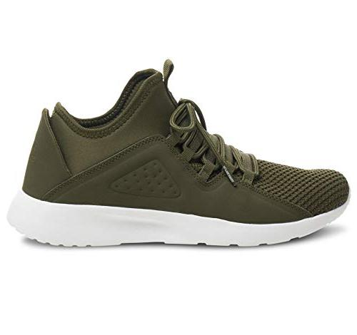 alpine swiss Men's Fashion Sneakers Lace Olive M
