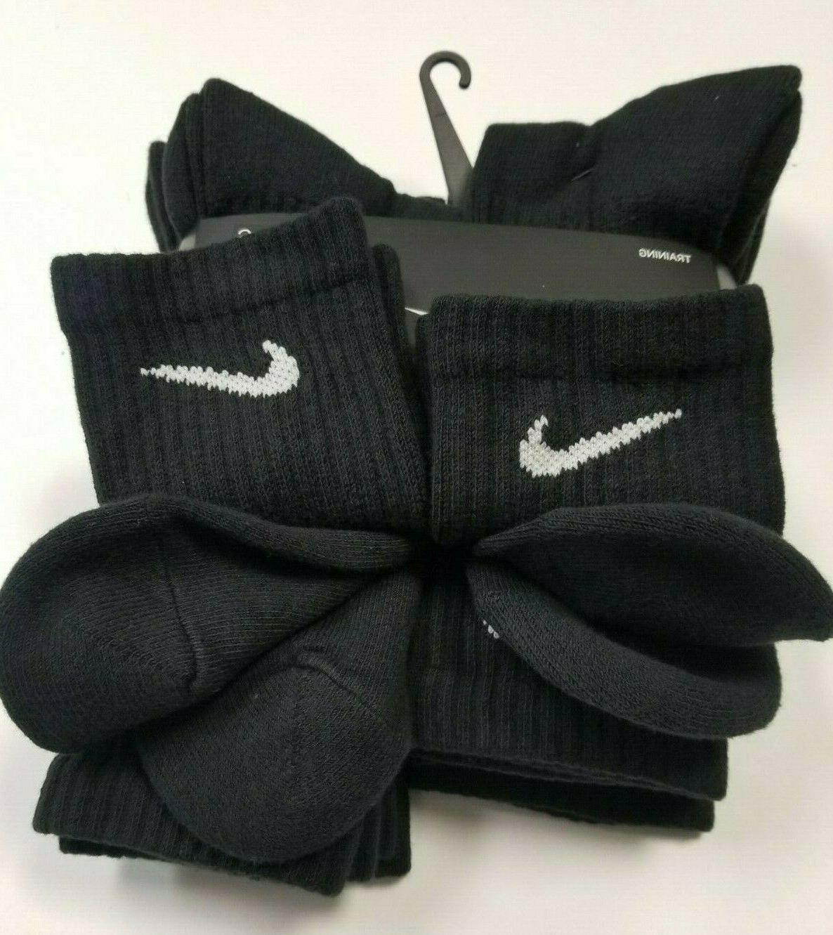 Nike Everyday Dri-Fit Cotton Cushioned Crew Socks 1, 3, or Pairs L