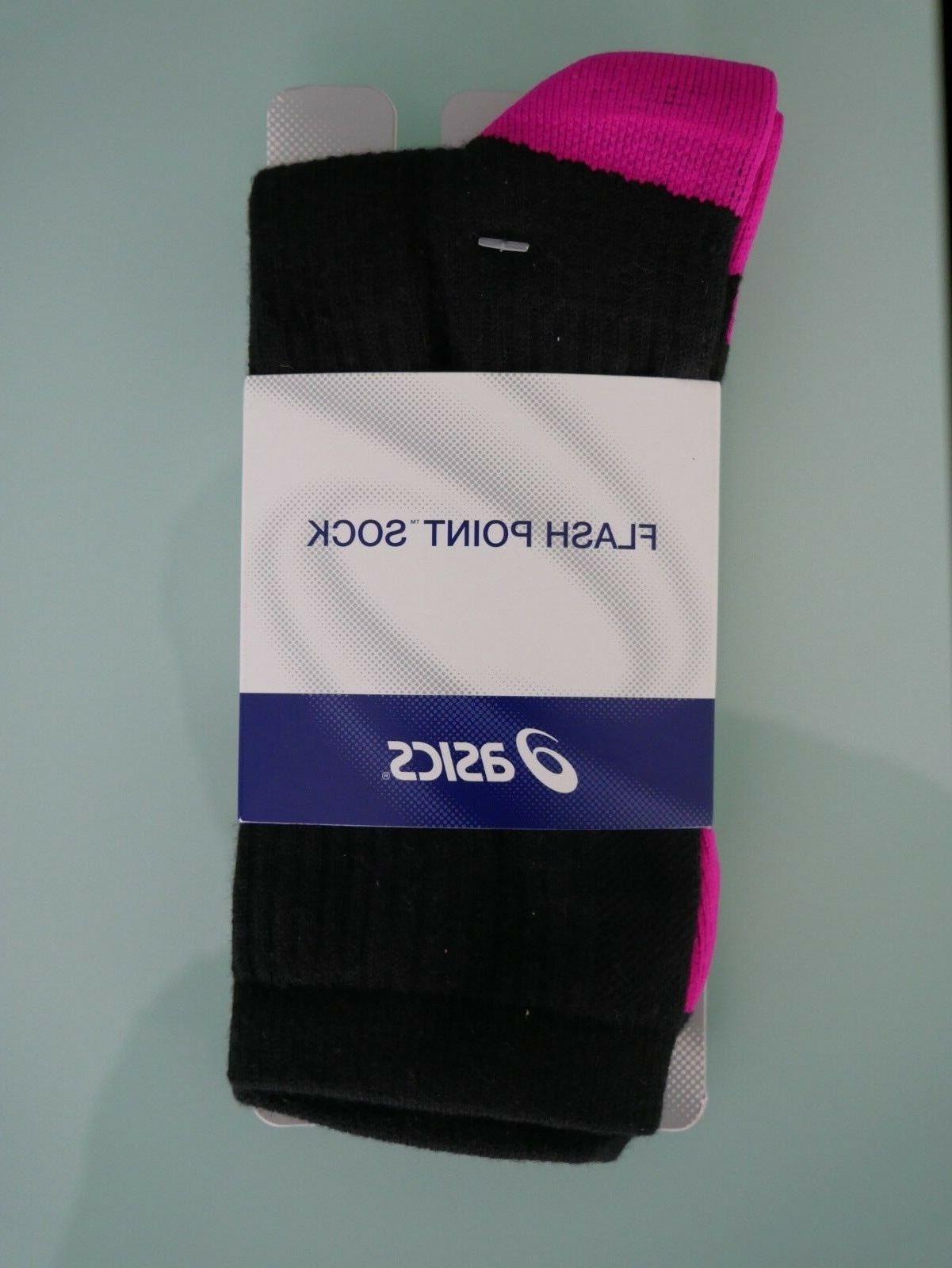 ASICS Flash Point Socks, Black/Pink Glow, Large