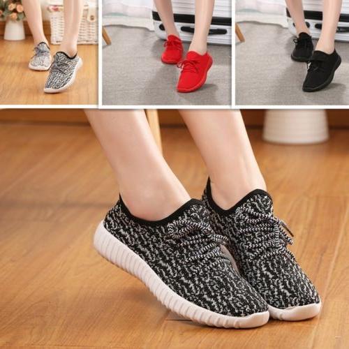 flat heel women running athletic sneakers sock
