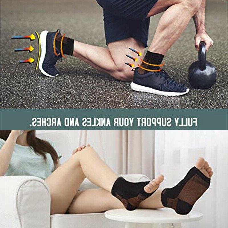Foot Anti-Fatigue Compression Ankle Support Sleeve Relief