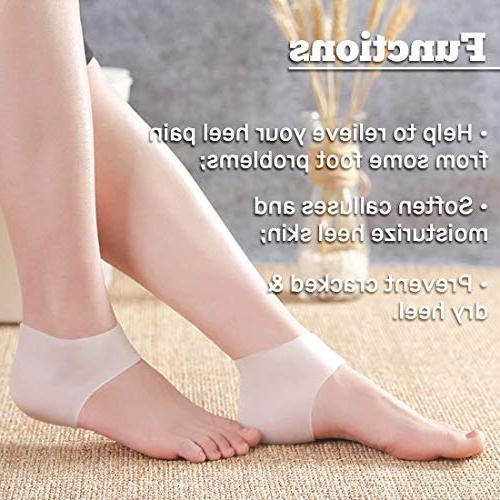 Kalevel Cushion Pads Sleeves Heel Pain Moisturizing Socks Cups for Tendonitis Heel Heel