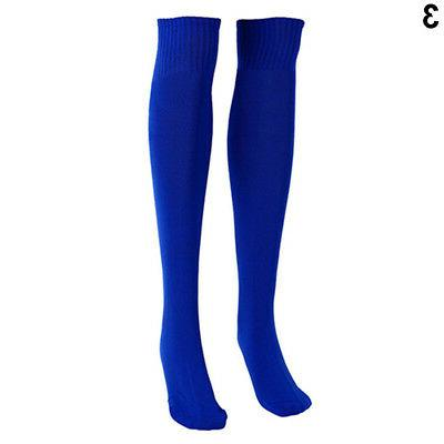 Football Plain Sock Sport Knee High Hockey Soccer Noted
