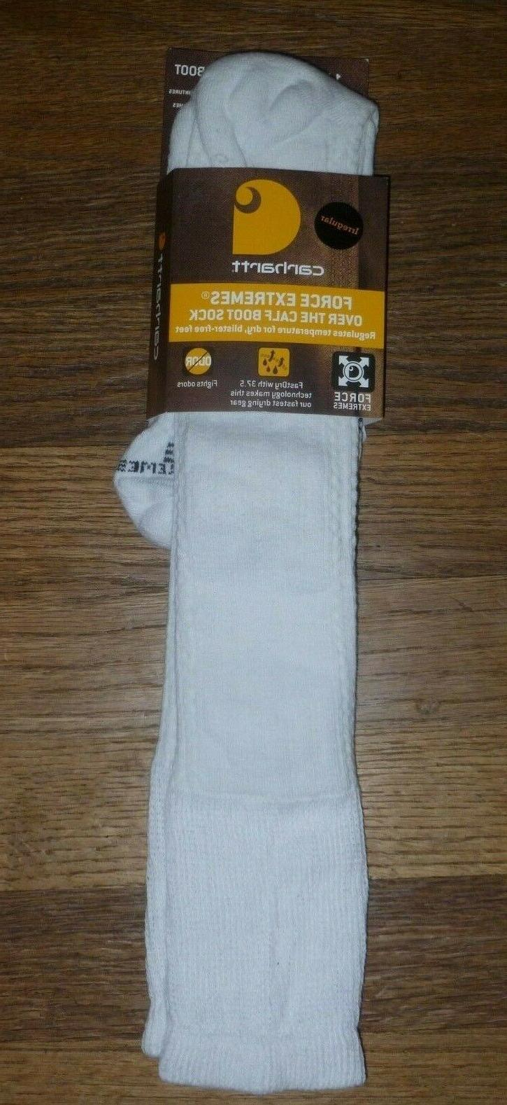 """CARHARTT """"FORCE EXTREMES"""" Mens Over The Calf Boot Socks L 6-"""