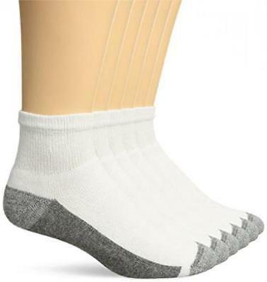 Hanes Men's FreshIQ Max Cushion 6-Pack White 6-12