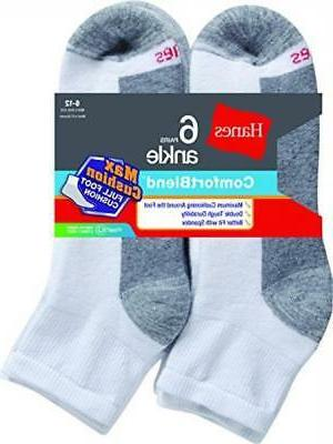 Hanes Men's Max Cushion Socks 6-Pack 6-12