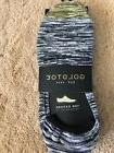 GOLD TOE THE OXFORD NO SHOW SOCKS 3 PAIR BLACK SIZE LARGE OR