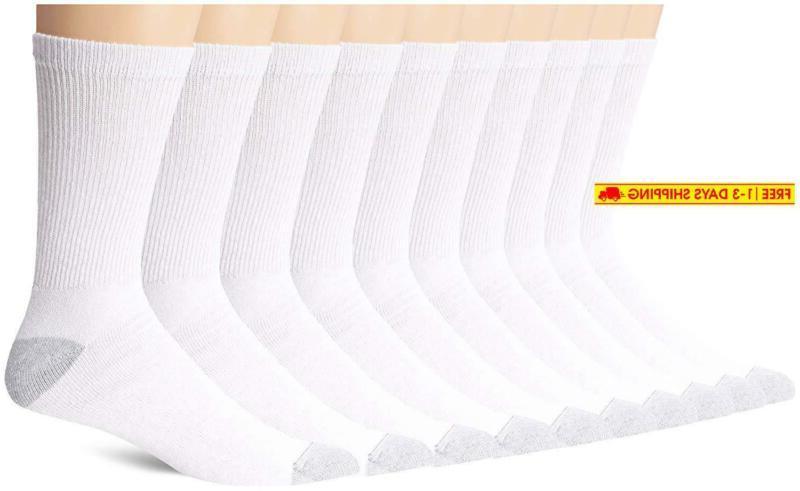 hanes men s 10 pack crew socks
