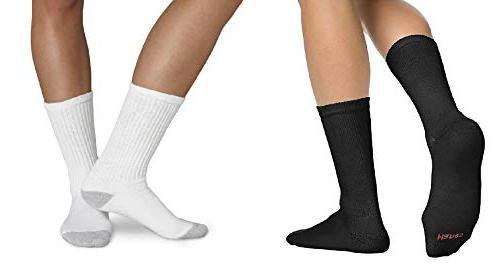 hanes men s cushion crew socks 10