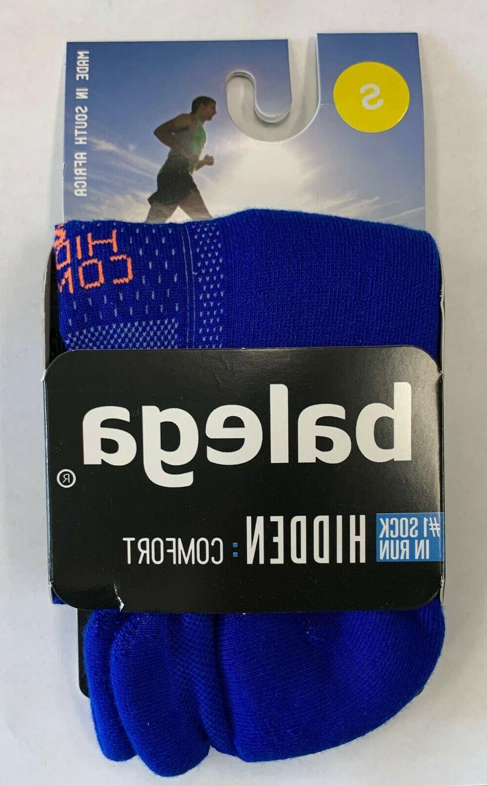 hidden comfort neon blue running sock white