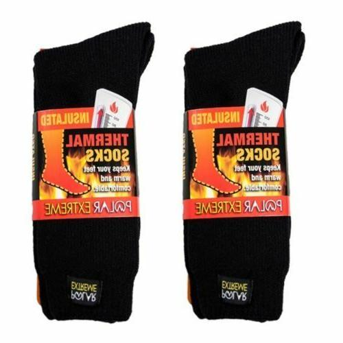insulated thermal socks mens solid black size