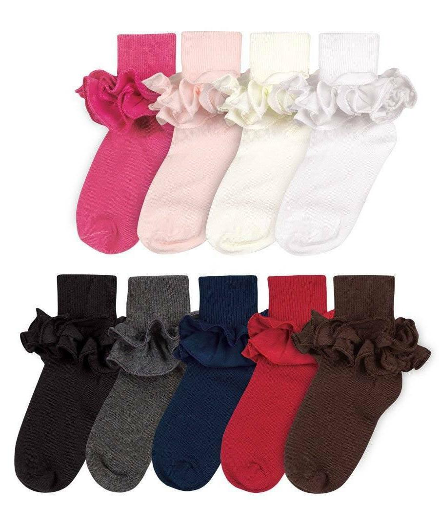 Jefferies Misty Ruffle Socks  Newborn Infant Toddler XS Size