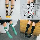 Kids Cotton Socks Knee High Hosiery Girls Cartoon Multi Patt