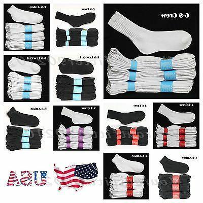Kids Cotton Socks Lot Crew Ankle Low Cut 2-3 4-6 6-8 Boy's G